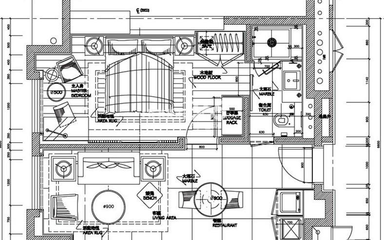 朗臣公寓户型图一室一厅一卫