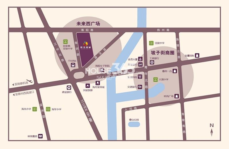 阳光瑞城交通图
