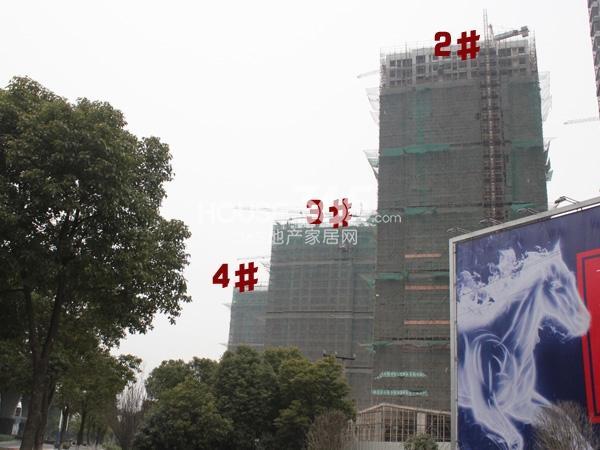 绿洲白马公馆2-4#工程实景图(2014.3.6)