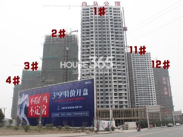 绿洲白马公馆1-4#、11#、12#工程实景图(2014.3.6)