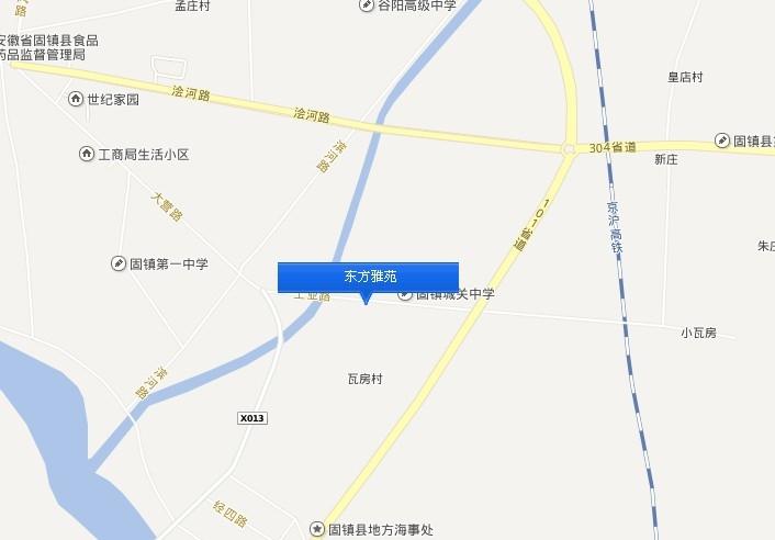 东方雅苑交通图