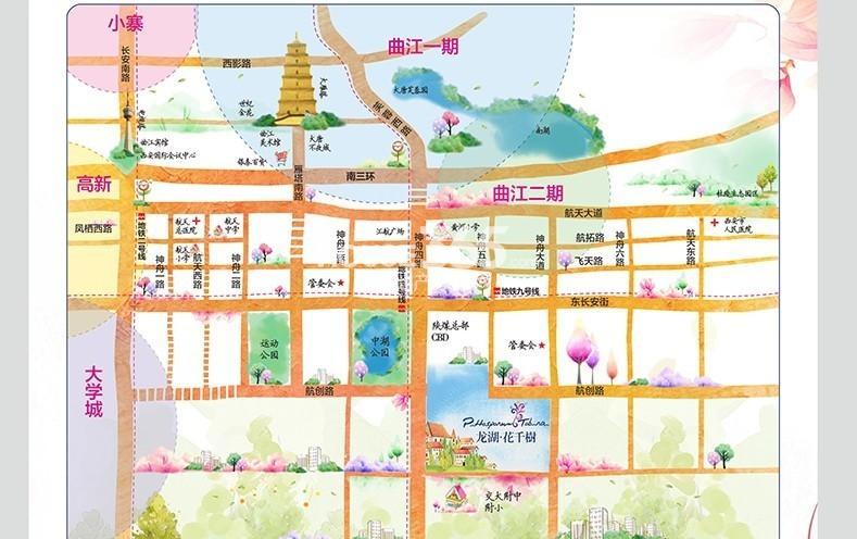 龙湖花千树交通图