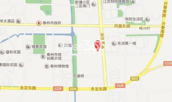 东润首府交通图