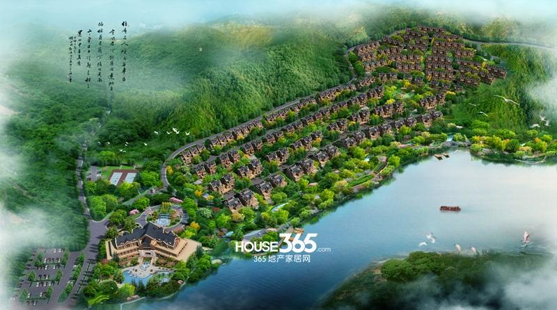 鹭山湖鸟瞰图