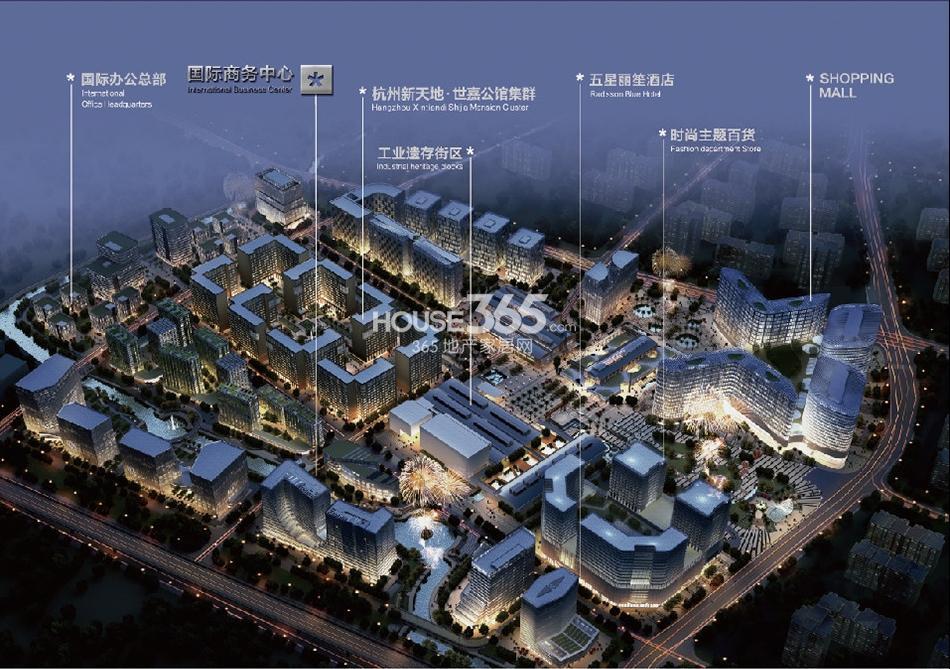 杭州新天地鸟瞰图