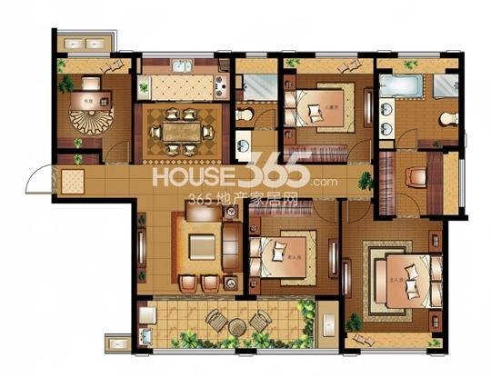 雅戈尔太阳城缘邑 H 4室2厅2卫1厨 163平