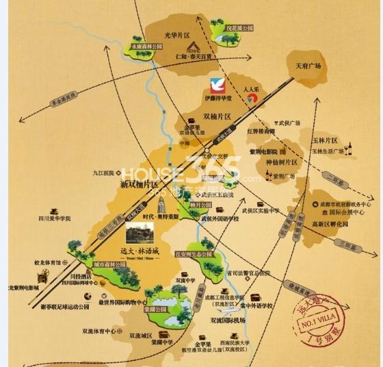 远大林语城交通图