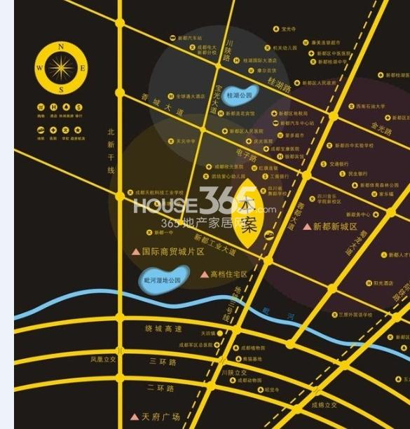 麦田国际社区交通图