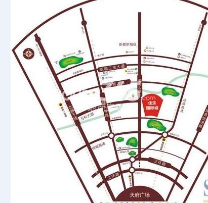 佳乐国际城交通图