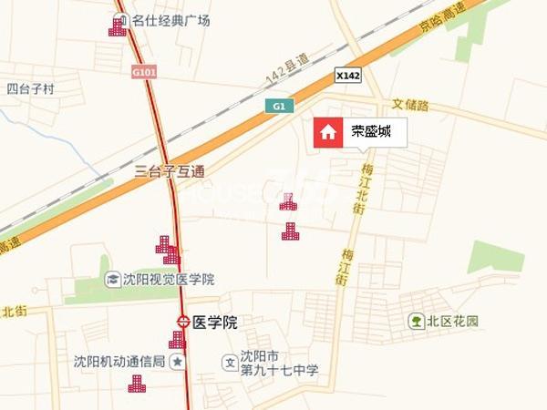 荣盛城锦绣御府交通图