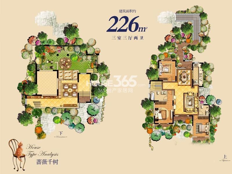 龙湖花千树226㎡洋房3室3厅2卫1厨 226.00㎡