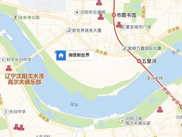 御景新世界交通图