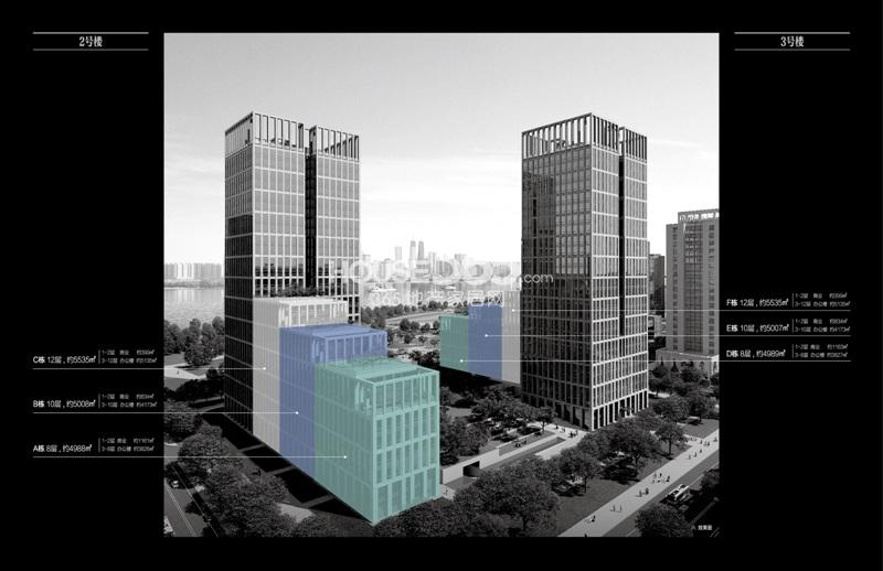 浙大网新双城国际2、3号楼写字楼平面图