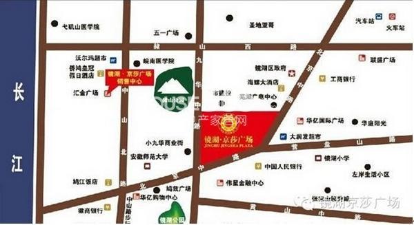 镜湖京莎广场独立沿街商铺交通图