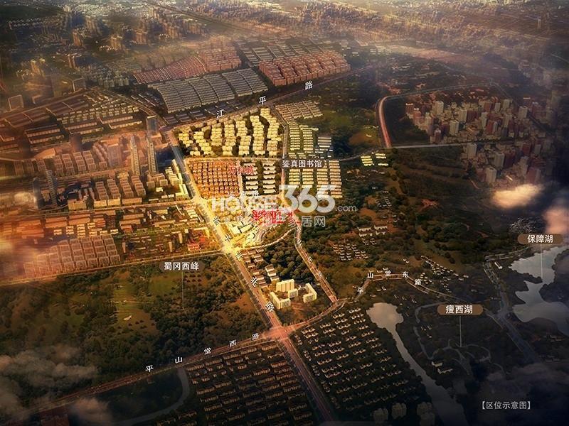 扬州万科城鸟瞰图
