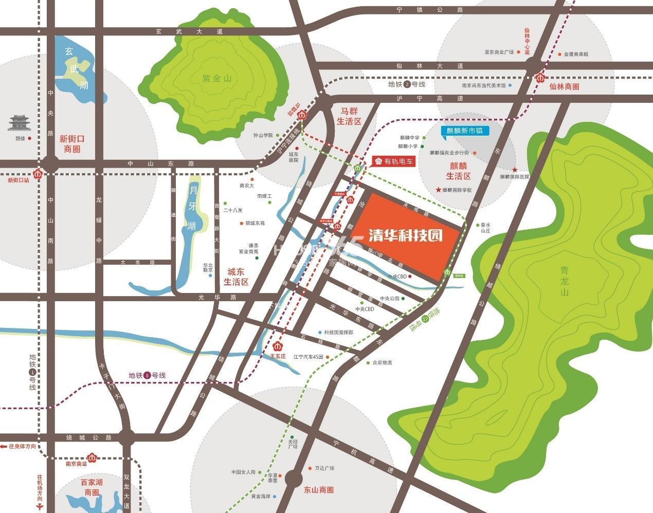 启迪科技城(南京)交通图
