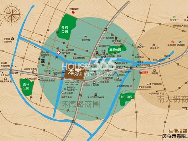 万泰国际广场·檀香湾交通图
