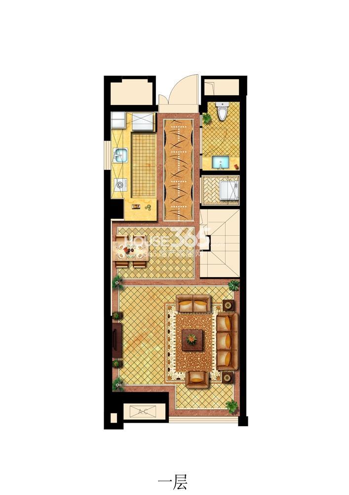 旭日爱上城公寓户型图