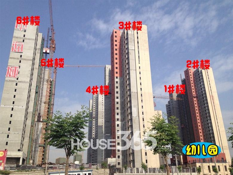 中海城1-6#楼施工进度图(2014.05.12)