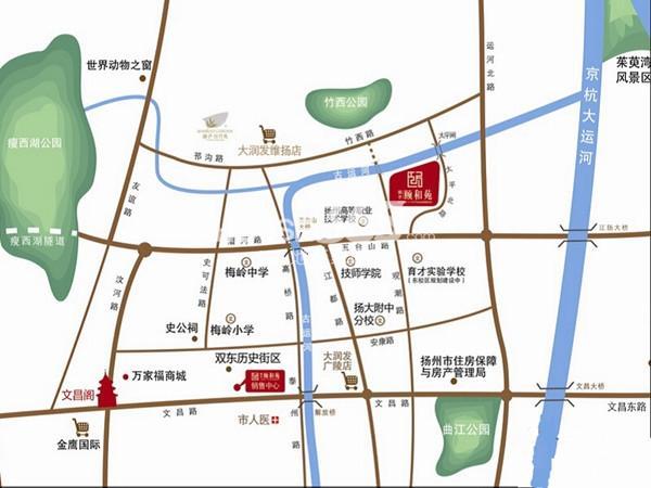 扬子颐和苑交通图