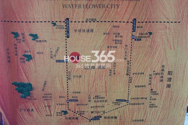水韵花都二期交通图