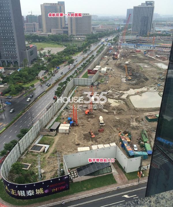 理想银泰城项目施工现场鸟瞰图(2014.6.1)