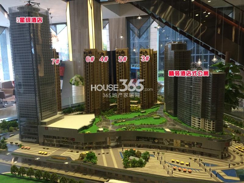 理想银泰城项目售楼处沙盘图