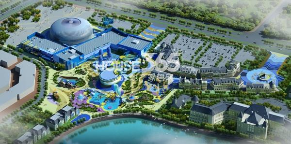 新华联海洋公园鸟瞰图