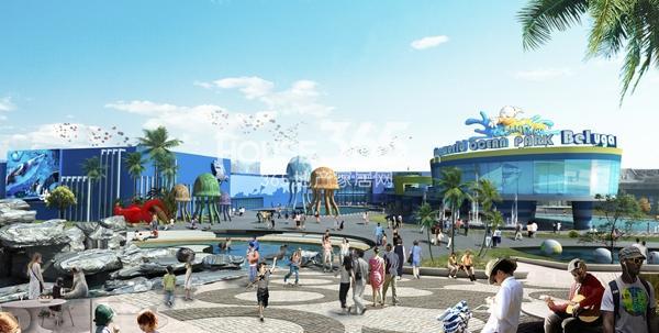 新华联海洋公园入口效果图