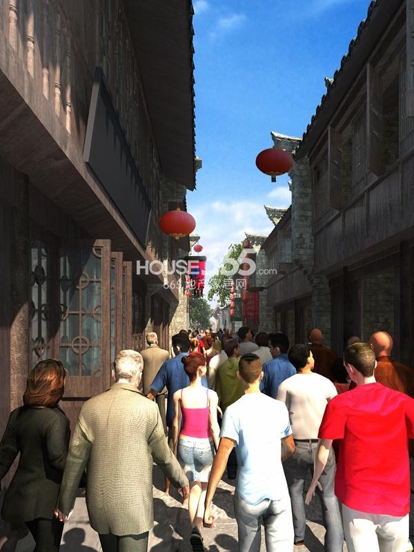 新华联老街巷子效果图