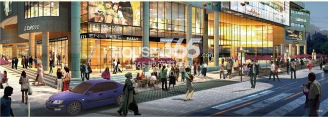 美泰美商业广场效果图