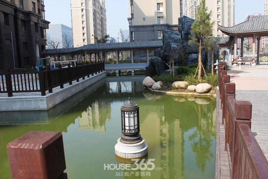三潭音悦小区内水系(2014年6月摄)