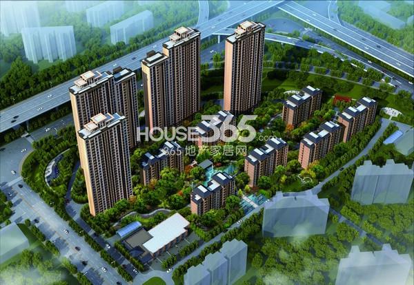 长江国际花园二期鸟瞰图