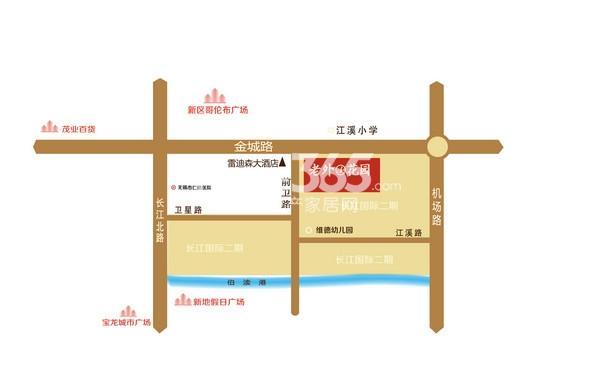 长江国际花园二期交通图