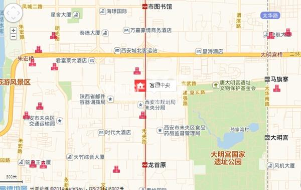 宫园中央交通图
