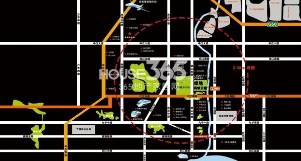 绿地镜湖世纪城交通图