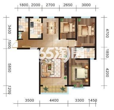 三室两厅两卫142.70㎡