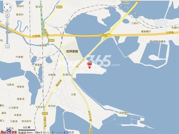 世茂林屿岸交通图