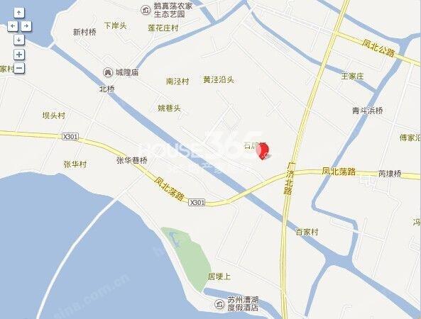 东渡湖韵青城花园交通图