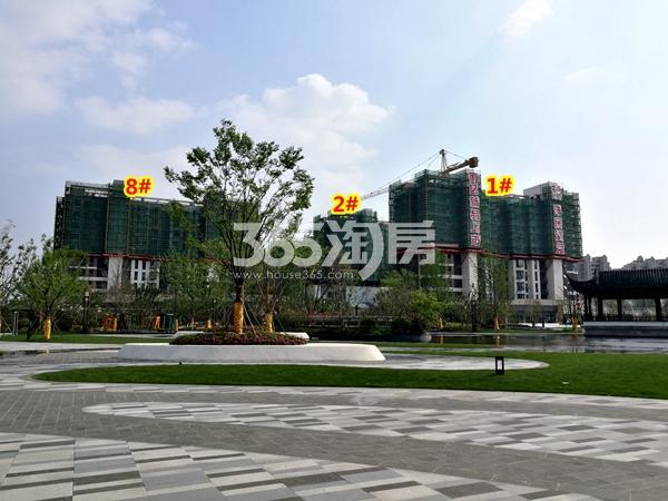 绿地天空树1#、2#、8#楼洋房工程实景(2018.4摄)