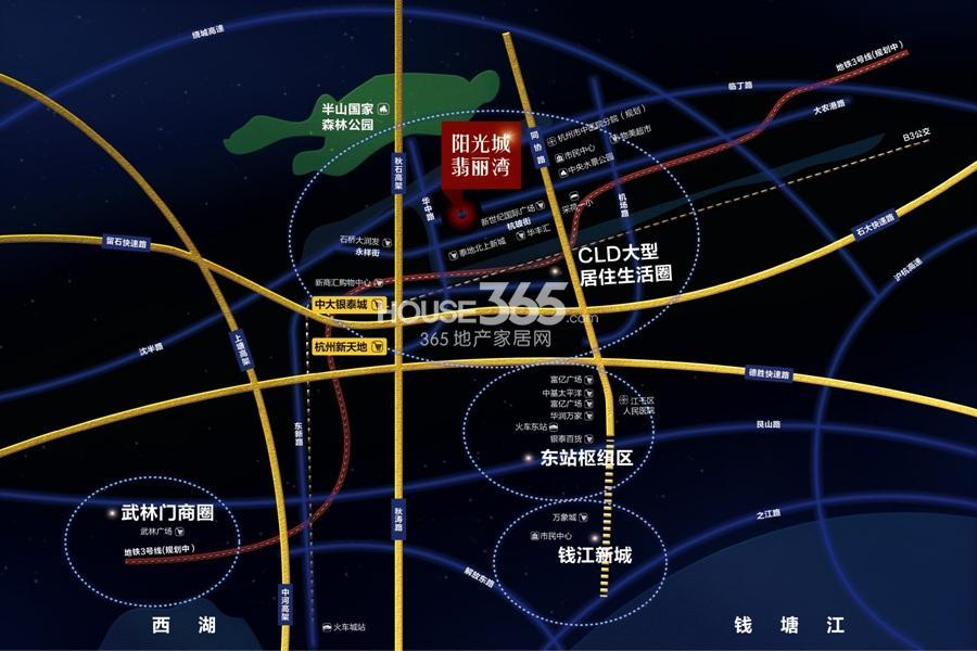 阳光城翡丽湾交通图