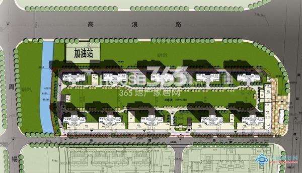 苏宁悦城A地块平面图