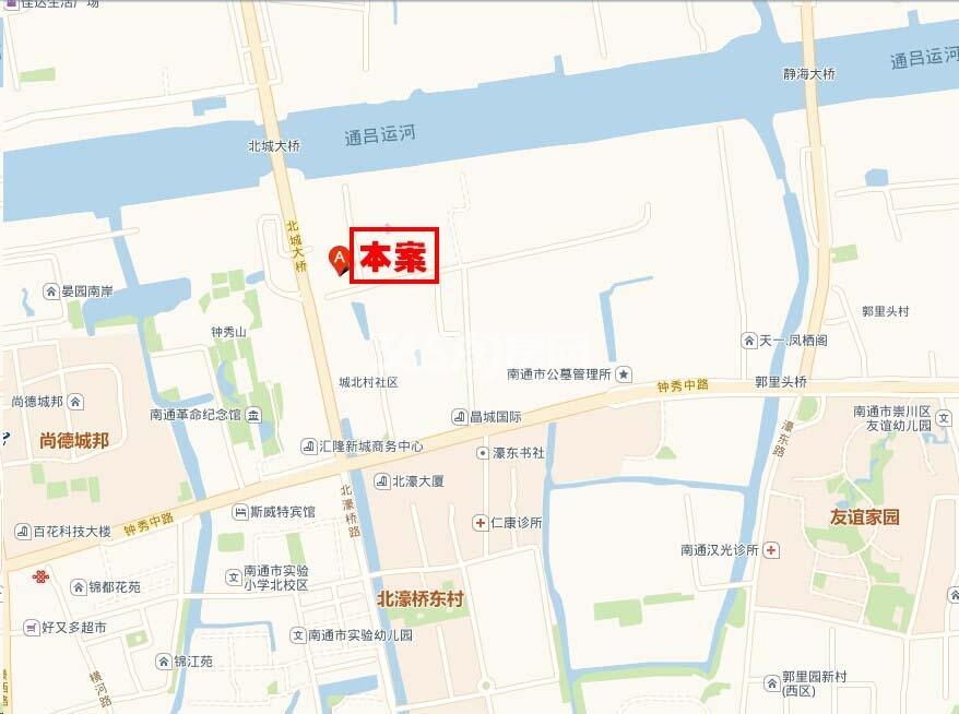 五洲御锦城交通图
