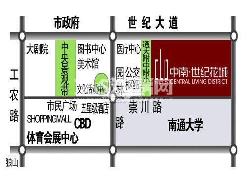 中南世纪花城交通图