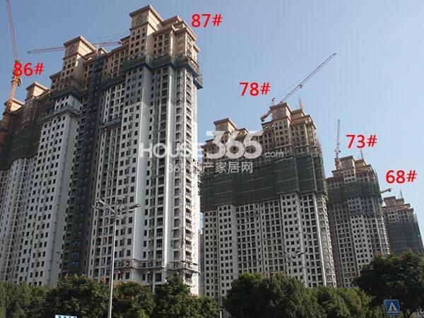 大名城68、73、78、86、87#工程实景图(2014.10)