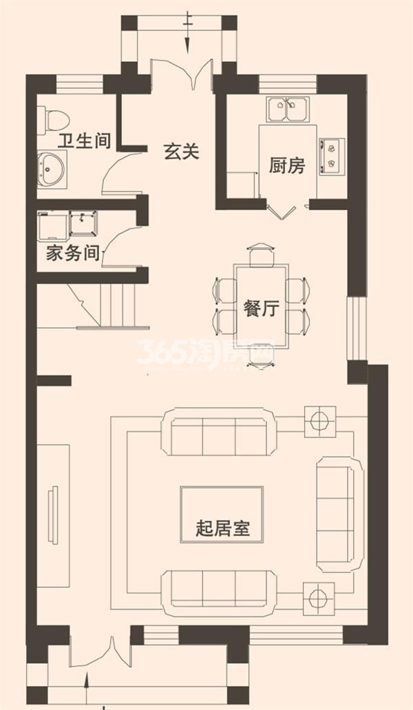 别墅C1户型167平米一层
