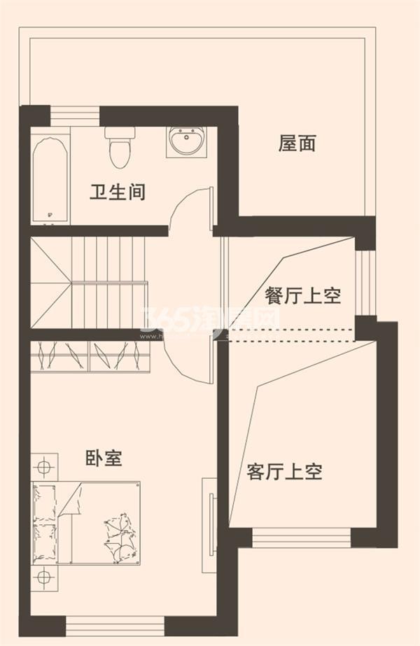 别墅C1户型167平米三层