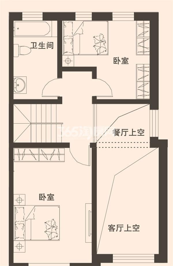 别墅C1户型167平米二层