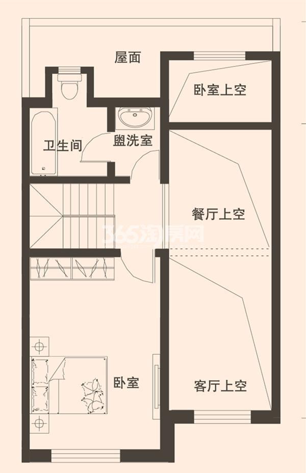 别墅A2户型173平米三层