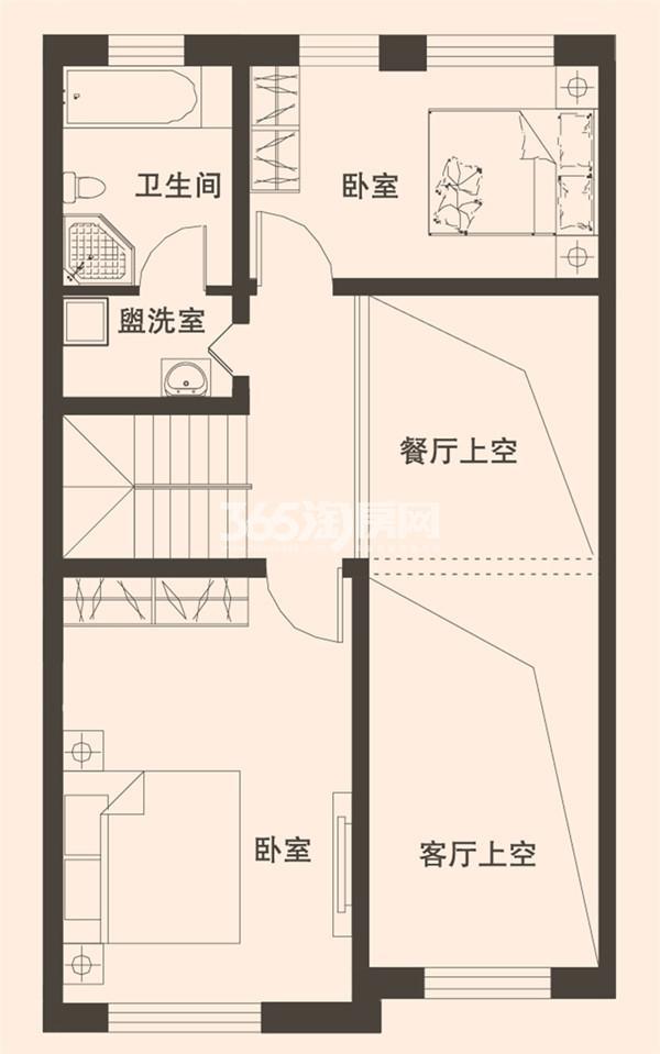 别墅A2户型173平米二层